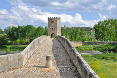 burgos bridżowi frias Spain fotografia royalty free