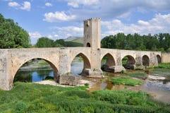 burgos bridżowi frias Spain zdjęcia stock