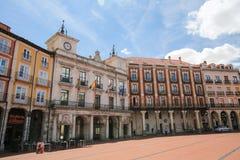 Burgos Casa Consistorial at the Plaza Mayor Stock Photography