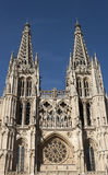 Burgos cathedra facade. Royalty Free Stock Photography