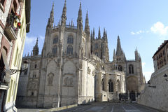 Burgos cathedral from backside. Burgos, Spain Stock Photography