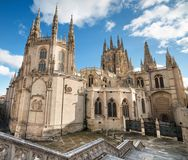 Burgos Cathedral Berömd spansk Landmark royaltyfri bild