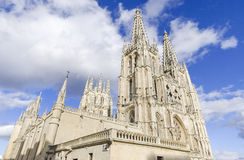 Burgos Cathedral Berömd spansk Landmark arkivbilder