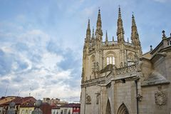 Burgos cathedral. A detail of Burgos cathedral in Spain Stock Image
