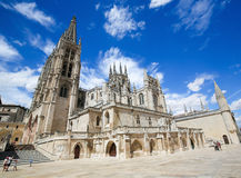 Burgos Cathedral. Famous gothic cathedral in Burgos, Castile, Spain Stock Image
