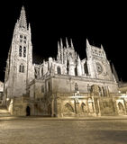 Burgos Cathedral at night Royalty Free Stock Photos