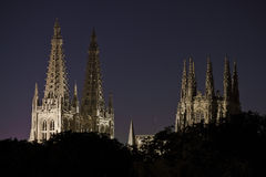 Burgos Cathedral at night Stock Photo