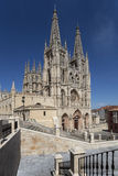 Burgos Cathedral - Northern Spain. Burgos Cathedral and the city of Burgos in the Castilla-y-Leon region of northern Spain Royalty Free Stock Image