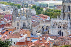 Burgos. Cathedral of Our Lady. Cathedral in the city of Burgos was founded in 1221. The main Catholic church of Castile Stock Images