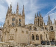 Burgos cathedral rear Royalty Free Stock Photo