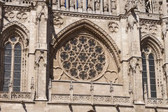 Burgos cathedral rosette. Royalty Free Stock Image