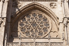Burgos cathedral rosette. Royalty Free Stock Photos