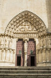 Burgos Cathedral entrance royalty free stock photos