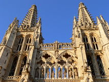 Burgos cathedral, Spain. View of Burgos cathedral in summer, Spain Stock Image