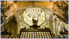 Burgos Cathedral, Spain. Interior of Burgos Cathedral, the ceiling Royalty Free Stock Photo