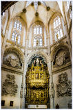 Burgos Cathedral, Spain. Interior of Burgos Cathedral, chapel of Condestable Royalty Free Stock Photography