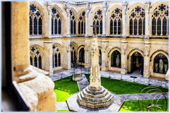 Burgos Cathedral, Spain. Interior of Burgos Cathedral,cloitre, the inner yard Stock Images