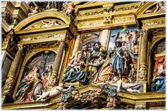 Burgos Cathedral, Spain. Interior of Burgos Cathedral, retable Stock Image