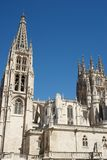 Burgos Cathedral view. Exterior View of Burgos Cathedral, Burgos, Castilla Leon, Spain Stock Photography