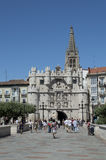 Burgos City gate Royalty Free Stock Photography