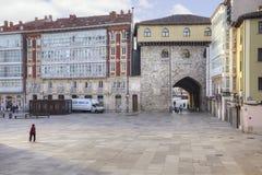 Burgos cityscape Arkivbilder