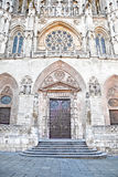 Burgos. Entrance in Cathedral of Our Lady Stock Images