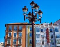 Burgos facades in Castilla Spain Stock Photos
