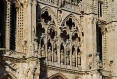 Burgos Katedra główna Fasada. Hiszpania Obraz Stock