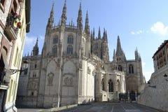 Burgos katedra od zadka burgos Spain fotografia stock