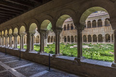 Burgos monastery of Silos. Cloister Romanesque architecture Stock Photography