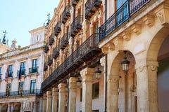 Burgos Plaza Mayor square  arcades Castilla Spain Stock Images