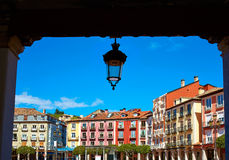 Burgos Plaza Mayor square in Castilla Leon Spain Stock Image