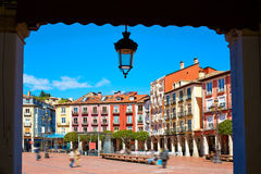 Burgos Plaza Mayor square in Castilla Leon Spain Royalty Free Stock Photos
