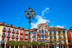 Burgos Plaza Mayor square in Castilla Leon Spain Stock Photos