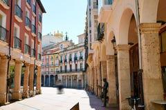 Burgos Plaza Mayor square in Castilla Leon Spain Stock Photo