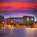 Burgos Plaza Mayor square at sunset in Spain Royalty Free Stock Photos