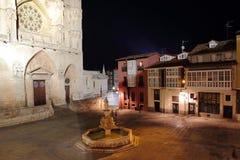 Burgos plaza santa Maria Stock Photography