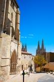 Burgos San Esteban church facade Castilla Spain Royalty Free Stock Photo