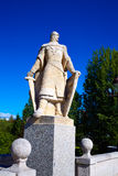Burgos San Pablo bridge Statues on Arlanzon river Royalty Free Stock Photos
