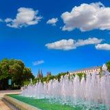Burgos San Pablo mosta katedra i fontanna Fotografia Royalty Free