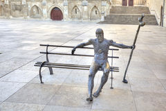Burgos. Sculpture Pilgrim on the Way of St. James Royalty Free Stock Images