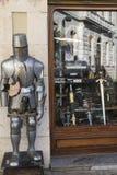 Burgos Spain: blades shop Royalty Free Stock Photos