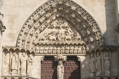 Burgos Spain: cathedral Stock Image
