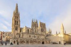 The Cathedral Santa Maria de Burgos. Burgos, Spain; 01 14 2017: The Cathedral Santa Maria de Burgos, is the maximum exponent of Gothic in Spain Stock Photo