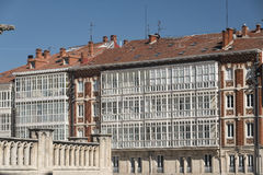 Burgos Spain: facade of historic buildings Royalty Free Stock Images