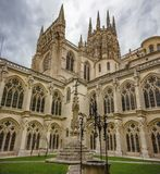 Cloister of the Cathedral of Burgos stock image