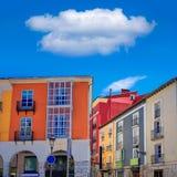 Burgos Street Santander arcades Castilla Spain Stock Images