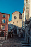 Burgos. Sun kissed streets of the old city center of Burgos, Spain Stock Photo