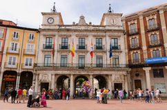 Burgos Town hall. BURGOS, SPAIN - JULY 5: Town hall in the city of Burgos, on July 5, 2014. Burgos Town Hall is placed in Plaza Mayor Royalty Free Stock Photography