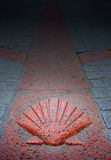 Burgos Way of Saint James sign in Castilla Spain Stock Images
